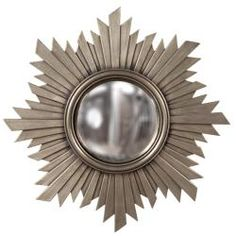 @Overstock - This unique mirror is finished in a brushed aged nickel, has gold hues and features a center convex mirror design. This mirror also offers a round shape on a contemporary background with a 21-inch diameter.http://www.overstock.com/Home-Garden/Convex-Brushed-Aged-Nickel-Mirror/6765726/product.html?CID=214117 $69.99