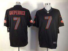 dd704898e NFL Nike San Francisco 49ers 7  Colin Kaepernick Game Impact Black Limited  Jerseys