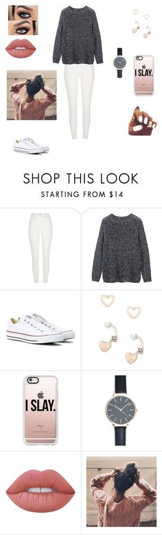"""Untitled #114"" by carlyfaithh ❤ liked on Polyvore featuring River Island, Toast, Converse, Lipsy, Casetify, New Look and Lime Crime"