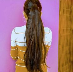 Long Ponytail Hairstyles, Long Ponytails, Indian Long Hair Braid, Braids For Long Hair, Ponytail Scrunchie, Hair Ponytail, Silky Hair, Beautiful Long Hair, Layered Cuts