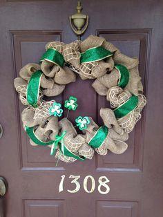 Burlap St. Patricks Day Wreath