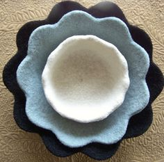 Ravelry: Felted Petal Bowls pattern by Melanie Rice