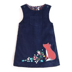 Look at this Navy Fox Appliqué Shift Dress - Infant, Toddler & Girls Toddler Girl Style, Toddler Girl Outfits, Toddler Dress, Baby Dress, Infant Toddler, Infant Girls, Toddler Girls, Fashion Kids, Girl Fashion