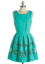 A Dreamboat Come True Dress in Turquoise   Mod Retro Vintage Dresses   ModCloth.com