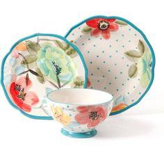 The Pioneer Woman Vintage Bloom 12-Piece Decorated Dinnerware Set - Walmart.com