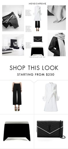 """Monochrome"" by efashiondiva7 ❤ liked on Polyvore featuring Roland Mouret, Goen.J, COS, Heller and Yves Saint Laurent"