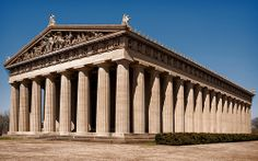 Parthenon (1897), 2500 West End Ave, view 03, Nashville, TN. Full scale replica of the original in Athens Greece.