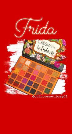 Frida Paleta Original Disponible en ChicCosmeticsGdl® 📲3313432384 Beauty Creations, Pink, Makeup, Shades, Pallets, Frames, The Originals, Budget, Make Up