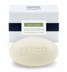 LAFCO House & Home Celery Thyme Bath Soap by LAFCO. $17.00. Oprah's Favorite Things 2012!!. 8.5 oz Bar. Light, fresh and green with a slight floral note: a mix of crisp celery, clean white florals and a touch of thyme. A 100% vegetable base (solvent free coconut oil) soap enriched with olive oil (14%) and sweet almond oil.. LAFCO House & Home Celery Thyme Dining Room Bath Soap. LAFCO House & Home Celery Thyme Dining Room Bath Soap  Light, fresh and green with a slight flo...