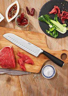 Jak se vaří v cizině: Kuchyňské pomůcky pro mezinárodní kuchyni Kitchen Knives, Bamboo Cutting Board, Food, Meals