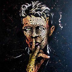 David Bowie work created by ottoschade
