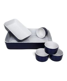 Take a look at this Blue Jana Six-Piece Baking Set by Euro Ceramica on #zulily today!