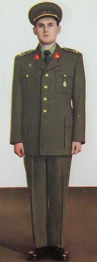 1959 pattern Czechoslovak People's Army (ČSLA) officers' summer service dress uniform.