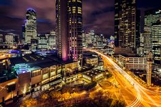 """""""Electri-City"""" by Jared Lim. Crown Casino and Entertainment Complex is a large casino and entertainment precinct located on the south bank of the Yarra River, in Melbourne, Australia. Exposure Photography, Night Photography, Travel Photography, Photography Ideas, Nature View, Melbourne Victoria, World Pictures, Beautiful Places In The World, Amazing Architecture"""