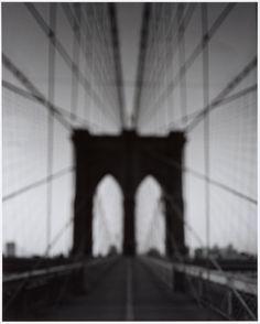 Brooklyn Bridge, by Hiroshi Sugimoto, gelatin-silver print, 2001
