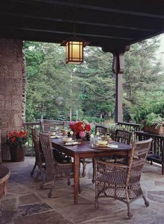 Outdoor patio and dining space.