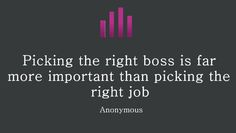 Elegir al mejor jefe...