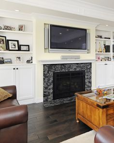 Great Craftsman Living Room Design Interior with Small Sofa Furniture Used White Fireplace Mantel Shelves Design Ideas
