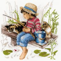 RIOLIS - Let's Go Fishing Counted Cross Stitch Kit-11.75