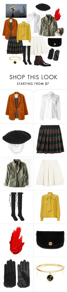 """""""Fall in London!"""" by sarii-manja ❤ liked on Polyvore featuring MANGO, Dondup, Silver Spoon Attire, P.A.R.O.S.H., American Eagle Outfitters, MSGM, HYD, Orla Kiely, Maybelline and Chanel"""