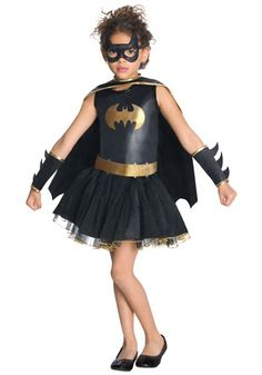 Kids Batgirl Tutu Costume -- I want to wear this for halloween...!