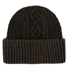 Men's Topshop Brian Cable Knit Cap (1.290 RUB) ❤ liked on Polyvore featuring men's fashion, men's accessories, men's hats, olive, mens cable knit hat, mens hats, mens caps and hats and mens caps
