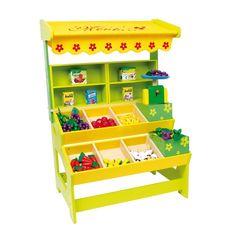 Tienda estilo frutería de juguete de #madera educativo para #niños #educacion