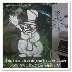 Décorer ses fenêtres sans bombe de neige toxique - Que Cache Ma Boite à Belette ?
