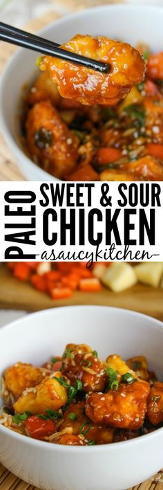 Paleo and low fodmap sweet and sour chicken www.asaucykitchen...