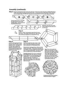 Diagrams - 6 Pentagonal Prisms - Page 3 Origami Installation, Page 3, Diagram, Words, Creative Crafts, Creativity, Horse