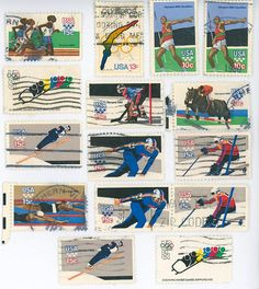 Olympic sports postage stamps US by gracealleytreasures on Etsy, $1.95