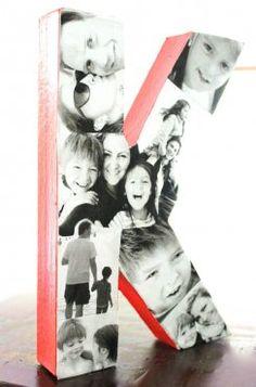 Letra decorativa con fotos de la familia | Blog de BabyCenter