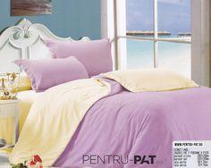 Lenjerie de pat bumbac satinat Casa New Fashion UNI crem si roz Uni, New Fashion, Satin, Home, Elastic Satin, Ad Home, Homes, House