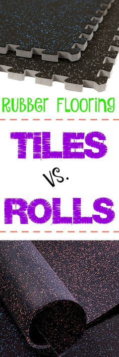 Rubber Flooring: Tiles vs. Rolls. Looking for gym flooring, but don't know where to start? This is a great guide to get the gym flooring that's best for you.