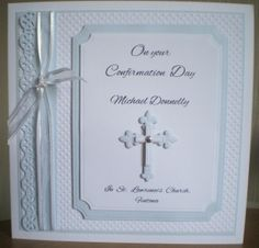 Male Confirmation card using Spellbinders dies and Tonic edge punch