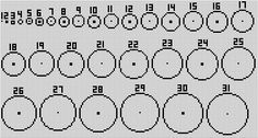 Minecraft circle chart for spheres and domes, etc    Minecraft Building Inc