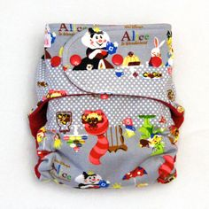All In Two Cloth Diaper with Aice in Wonderland   One by Tooshas, $25.00