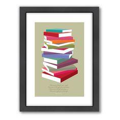 Americanflat Visual Philosophy ''Dr. Seuss Books Pile'' Framed Wall Art, Multicolor