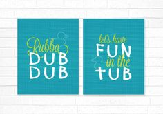 Rubber Ducky Bathroom Prints  Rubba Dub Dub Bath by DaphneGraphics, $30.00