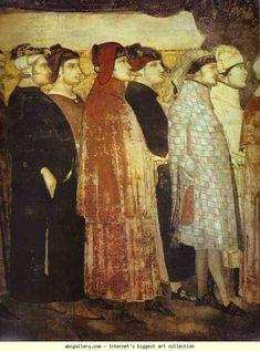 Ambrogio Lorenzetti. Allegory of Good Government. Detail. 1338-40. Fresco. Palazzo Publico, Siena, Italy.