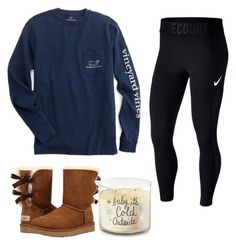 """""""baby, it's cold outside ❄️"""" by charlottedevlin on Polyvore featuring Vineyard Vines, UGG and NIKE"""