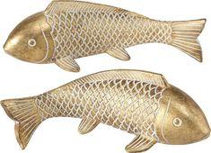 Leonique Dekofigur »Frida« (Set, 2 Stück), Fisch | OTTO Carpe Koi, Shops, Gold Kitchen, Garden Statues, Decoration, Modern, Sculptures, Fish, Grace