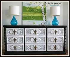 The Turquoise Iris ~ Vintage Modern Home: Vintage Glossy Dresser in Black and White