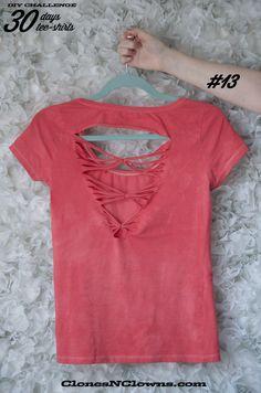 tee-shirt do it yourself - customiser ! C'est incroyable ce qu'on peut faire avec des ciseaux et un tee-shirt ! 30 IDEES TEESHIRT