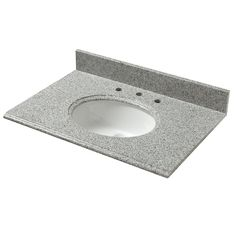 W Granite Vanity Top In Napoli With White Basin 37603   The Home Depot