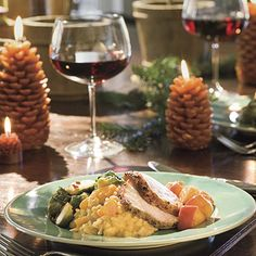 Cozy Christmas Dinner   These dishes create unexpected twists without being too fancy. Best of all, you can pull off this fabulous menu for 6 to 8                                            with plenty of time left to share with family and friends.