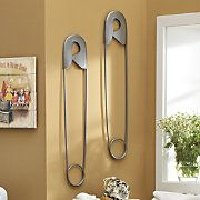 Wall Art, Safety Pin - am I the only one who wants to decorate the laundry room?