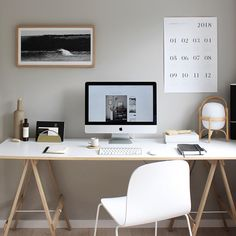 Neutral home office inspiration. Corporate Office Decor, Modern Office Decor, Stylish Office, Home Office Decor, Home Decor, Home Office Space, Home Office Design, Office Workspace, Home Office Inspiration