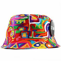 Kente african  print bucket hat 5 panel  snapback aztec hype new 0ad544281e73