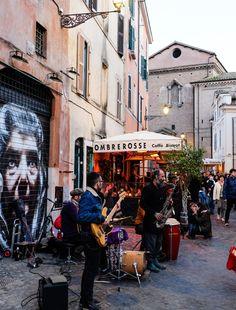 Travel Rom: Trastevere   Café Bistro Ombre Rosse   waseigenes.com